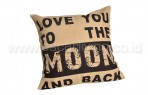 Bantal Sofa Decoration Love You To The Moon Black Q3